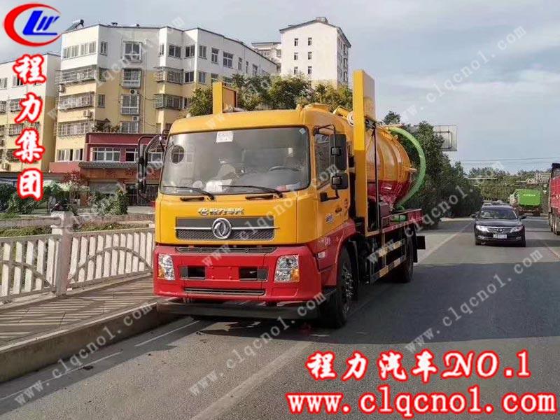 程力集团东风天锦新一代罗茨吸污机组试车