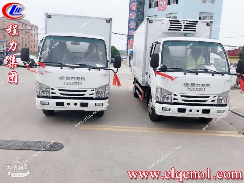 程力集团五十铃冷藏车,被主人沧州鑫福隆食品有限公司郭总,接回家了