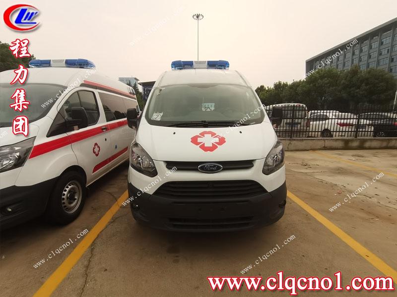 湖北程力集团六台江铃福特V348定制医疗救护车