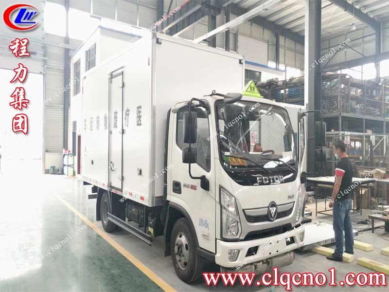 国庆中秋双节来临之际,武汉客户成功订购湖北程力福田奥铃速运医疗废物运输车