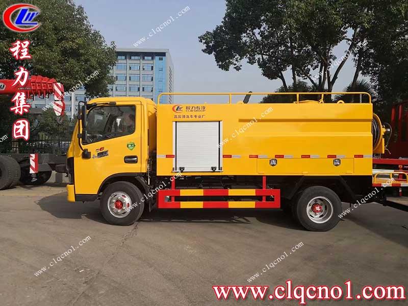 程力集团蓝牌东风小多利卡高压清洗车——城市管道疏通专家