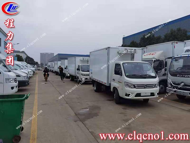 程力专汽冷藏车批量发往广西,只为疫情封锁之前安全抵达