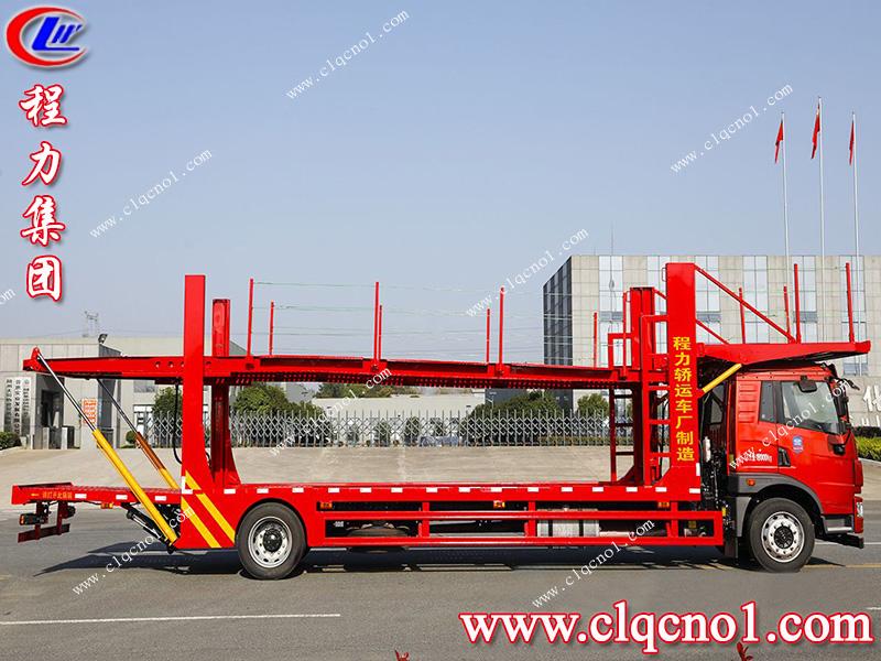 程力集团推出国六解放龙V五位轿运车,专为汽车运输行业服务!